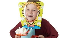 Splat Face Pie in your Face Family Fun Game JUST ADD CREAM Fun Childrens Game