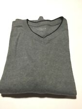 Men's Solid V neck size Large gray color