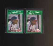1990 Donruss Sandy Alomar #1 RC Lot of 2