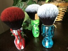 Custom made unique wet shaving brush Acrylic Synthetic Knot Pick your color! Men