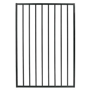 3.25 ft. W x 4.8 ft. H Black Steel Fence Gate