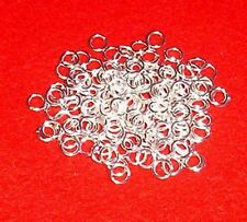 100 silver plated 6mm jump rings, findings for jewellery making crafts