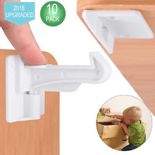 Child Safety Cupboard Locks, Slick Invisible Spring No Drill Children Baby Proof