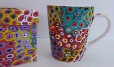 Lena Pwerle Soakage Artist Utopia Gift Boxed Vibrant Colored Coffee Mug Tea Cup