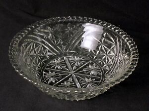 Anchor Hocking Stars and Bars Glass Salad Serving Bowl 10.5 Inches Diameter