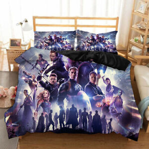Avengers: Endgame 3PCS Bedding Set Duvet Cover Comforter Cover Pillowcases Gifts
