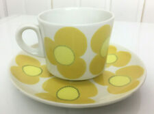 Arabia Finland Aurinko (Sun) Yellow Coffee Cup and Saucer Esteri Tomula