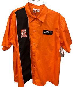 NWT TONY STEWART NASCAR LONG SLEEVE BUTTON DOWN SHIRT SIZE XL #20 HOME DEPOT