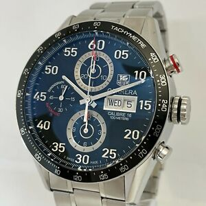 TAG HEUER Carrera CV2A10 Chronograph Automatic Men's Overhauled in 2018 CD6945