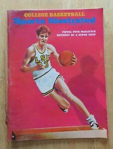 Sports Illustrated PISTOL PETE MARAVICH Dec 1, 1969 Magazine No Label LSU TIGERS