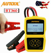 AUTOOL BT360 12V Automotive Car Digital Battery Tester Vehicle Battery Analyzer