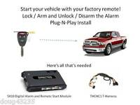 Plug-N-Play Alarm & Remote Starter for 2009-2012 Dodge RAM- 5X10-uses OEM Remote