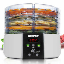 Geepas GFD63013UK 520W Digital Food Dehydrator - Black and Silver