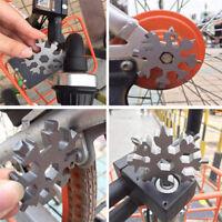 18-1 Snow Flake Flat Steel Shape Snowflake Multi Tool Cross Household Hand Newly