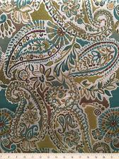Drapery Upholstery Fabric Medium Weight Textured Paisley Jacquard - Citron