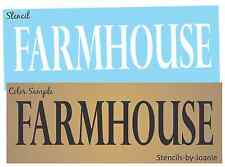 Joanie STENCIL FARMHOUSE Country Old Homestead Family Decor Craft Sign U Paint