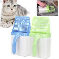 1* Cat Litter Scoop Plastic Waste Scooper Poop Pet Sand Shovel Cleaning Tool