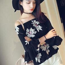 Fashion Women Ladies Loose Chiffon Tops Long Sleeve T Shirt Summer Casual Blouse