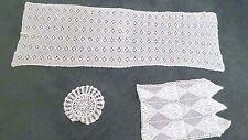 Lot Vintage White Crochet Doilies