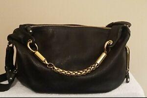 Furla Hand/Shoulder Bag Dark Green Genuin Leather