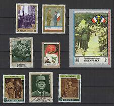 CHARLES DE GAULLE 8 timbres anciens oblitérés /B258