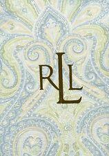 Ralph Lauren Home, 'Fenton Paisley' Aqua Set of 4 Napkins, 51 x 51cm, BNIB,