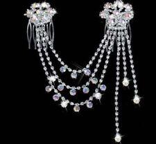 Wedding Bridal Headpiece Diamante Rhinestone Crystal Hair Comb Clip Accessories