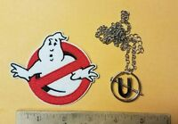 Ghostbusters Dr. Jillian Holtzmann Cosplay Screw U Necklace Pendant with patch