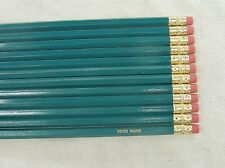 """12 Hexagon """"Teal"""" Personalized Pencils"""