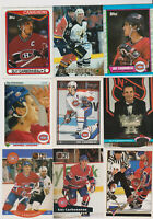 (41) card Guy Carbonneau mixed lot, Montreal Canadiens HOF