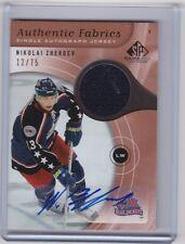 2006 SP GAME USED NIKOLAI ZHERDEV AUTO JERSEY CARD 12/75 RARE