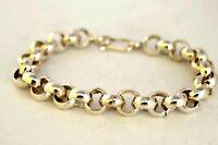 "925 Sterling Silver Rolo Chain Bracelet, 27 grams,  20 cm,  7.9"""