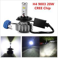 1x H4 9003 20W CREE LED Motorcycle Bike Headlight Bulb Hi-Low Beam 6000K 3000LM