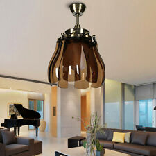 Foldable LED Remote Ceiling Fan Light Chandelier Lamp Warm/Cool/Natural White