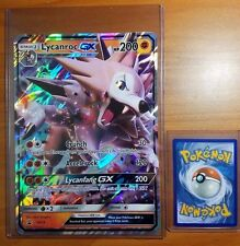 Pokemon Lycanroc GX SM14 Jumbo Oversized Card + Hard Top Loader Sleeves - FAST!