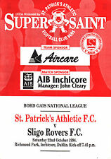 1994/95 St Patrick's Athletic v Sligo Rovers, League, PERFECT CONDITION
