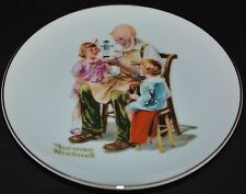 """Nice Norman Rockwell The Toymaker Plate 6 1/2"""" 1984"""