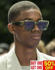 Hip Hop Designer Men's Oversized Sunglasses Square Frame Luxury Sunnies Glasses