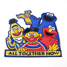 "SESAME STREET GANG ""ALL TOGETHER NOW"" EMBROIDERED 4"" PATCH"