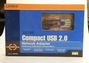 Linsky Compact USB 2.0 Network Adaptor 10/100 New Old Stock NIB