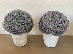 2 Parlane faux plants in ceramic pots