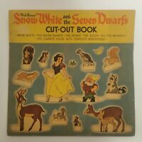 Walt Disney's Snow White And The Seven Dwarfs Cut Out Book 1938 *RARE* Complete