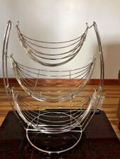 Three Tier Metal Hammock Basket Stand