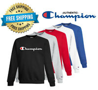 Champion Mens Classic Script Logo ECO Sweat Shirt---Brand New---S-3XL