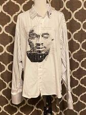 Vintage Tupac Shirt Button Up Dress Shirt Makaveli Hip Hop Rap Men's Size Xxl