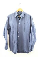Polo by Ralph Lauren Lowell Sport Herren Hemd Gr. L langarm Blau weiß Karo