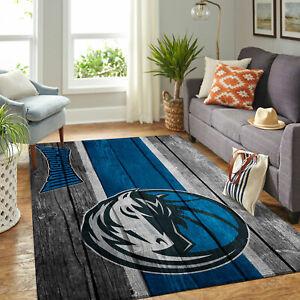 Dallas Mavericks NBA Team Wooden Style Rectangle Area Rug