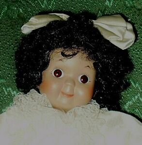 10-in African American porcelain googly doll, circa 1990s?