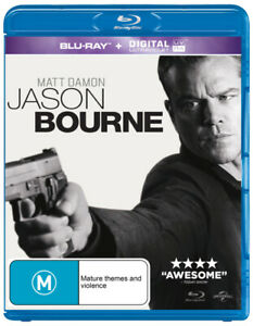 "JASON BOURNE (2016: BLU-RAY +UV) BRAND NEW/SEALED ""REGION B"""