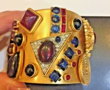 Beautiful Vintage Juicy Couture Multi Stone Embellished Cuff Bracelet